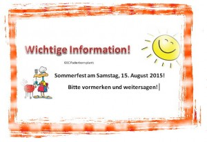 Sommerfest Info